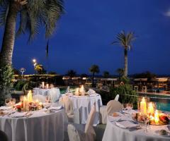Royal Hotel Sanremo - La terrazza per gli eventi all'aperto