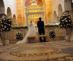 Abbazia di Sant'Andrea in Flumine - Gli sposi durante la cerimonia a Roma