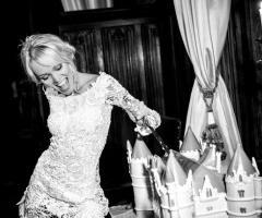 Fotografia in bianco e nero della sposa