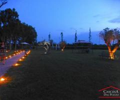 Cascina dal Pozzo - I giardini di sera