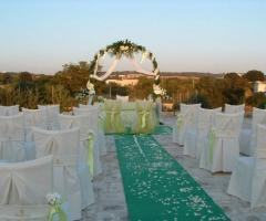 Masseria Bonelli - Cerimonia di nozze in giardino