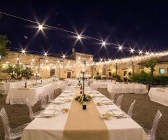 Masseria San Lorenzo - La disposizione dei tavoli