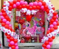 La Pirotecnica Pugliese - Arco a cuore di palloncini per il matrimonio