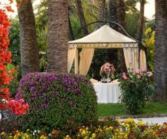 Royal Hotel Sanremo - Il gazebo per la cena romantica