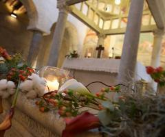 Abbazia di Sant'Andrea in Flumine - Addobbi per la cerimonia di matrimonio