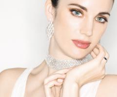 Collier e orecchini della linea Wedding Luxury by Unoaerre