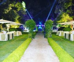 Villa Vergine - I tavoli per il buffet