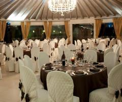 Villa Vergine - Mise en place scura per il matrimonio