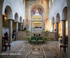 Abbazia di Sant'Andrea in Flumine - Allestimento della chiesa interna alla location