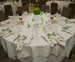 Ristorante Alla Veneziana - Mise en place in verde per le nozze