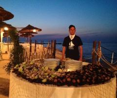 Lido Salsello Ricevimenti - Tavolo del buffet di pesce