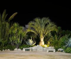 Tenuta Montenari - Giardino di sera della villa per matrimoni
