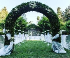 Villa Vergine - La cerimonia  all'aperto