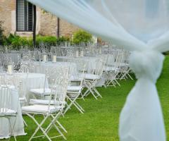 Abbazia di Sant'Andrea in Flumine - Matrimonio country chic in giardino