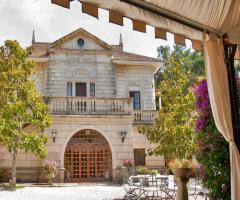 Villa Vergine - La facciata principale