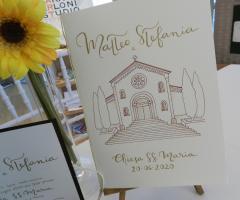 Sara Carloni Studio - Libretto messa con chiesa disegnata