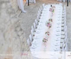 Masseria Bonelli - La tavolata di nozze dall'alto