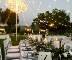 Masseria Luco - Le decorazioni serali