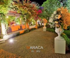Villa Vergine - Illuminazione colorata per un ricevimento di sera