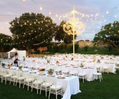 Masseria Luco - Allestimento in bianco di sera