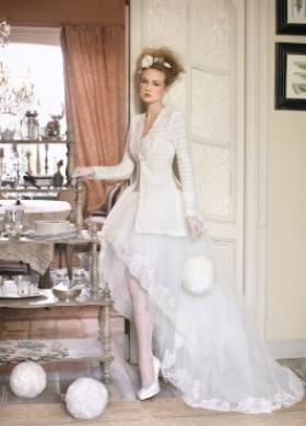 Vestito da sposa con giacca - Collezione La Magia del matrimonio d'inverno