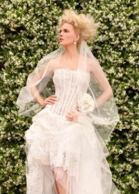Abito da sposa con velo ricamato - Collezione Villa Carlotta