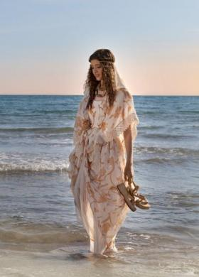 Daniela Gristina - Vestito da sposa stile kimono a fantasia