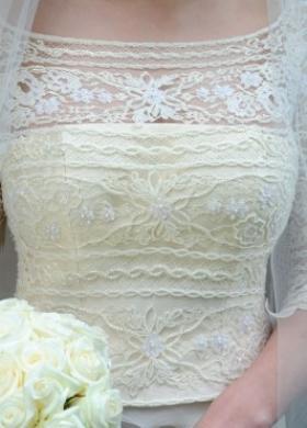 Corpetto dell'abito da sposa ricamato