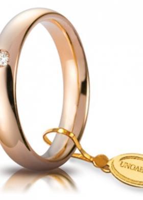 Fede in oro rosa con diamantino
