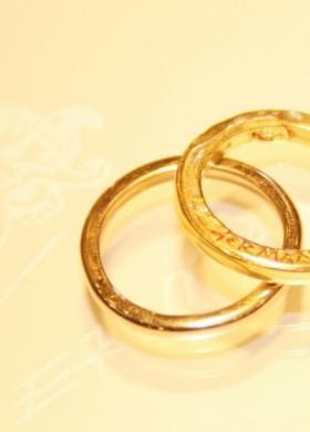 Fedi per gli sposi in oro giallo