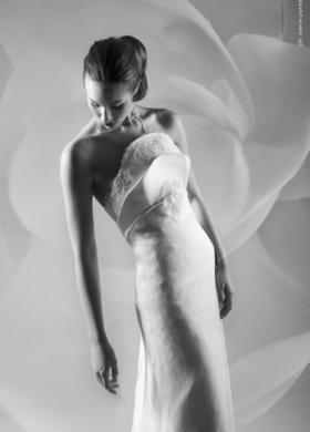 Vestito da sposa senza spalline