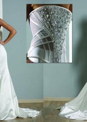 Vestito da sposa a sirena con corpetto di Swarovski - Modello Jolie