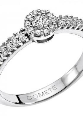 Anello di fidanzamento in oro bianco