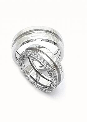 Eros Comin Gioielli - Fedi nuziali oro bianco e diamanti