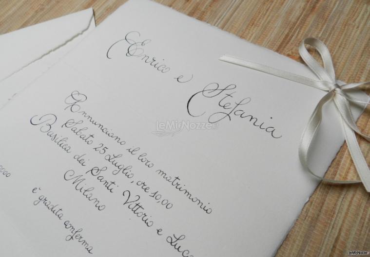 Sara Carloni Studio - Partecipazione carta Amalfi scritta a mano