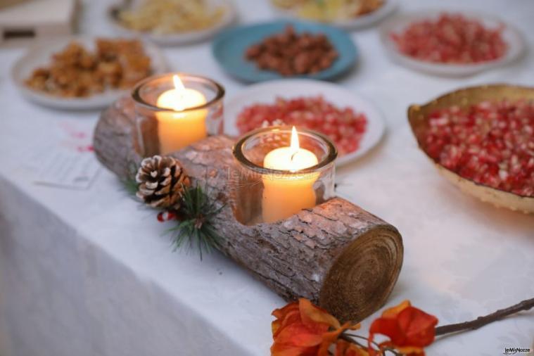 Luisa Mascolino Wedding Planner Sicilia - Decorazioni rustiche per i tavoli