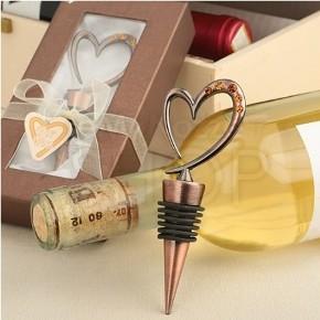 Bomboniera tappa bottiglia con cuore