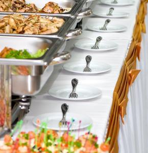 Il catering per il ricevimento di nozze