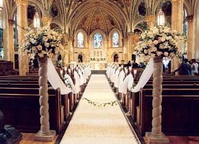 La chiesa pronta per il matrimonio