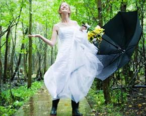 La sposa sotto la pioggia