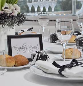 Mise en place per il ricevimento di nozze