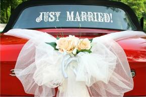 Addobbi floreali per la macchina da cerimonia