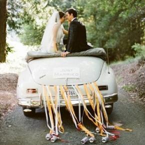 La partenza degli sposi