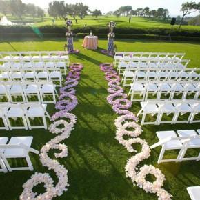 La cerimonia del matrimonio all'aperto