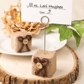I segnatavolo per il ricevimento di nozze