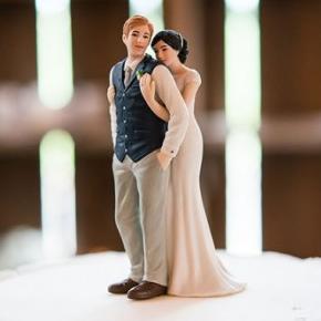 Cake topper romantico