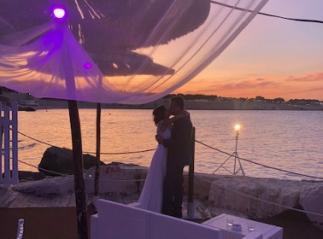 Il matrimonio al tramonto