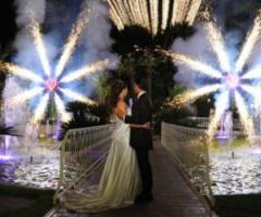 Accendi il matrimonio con uno spettacolo piromusicale!