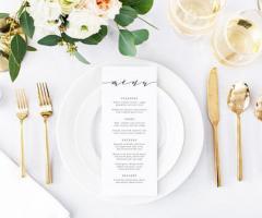 Il segreto per un menu di matrimonio di successo