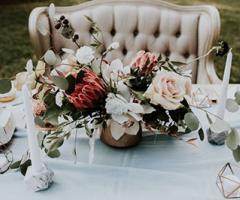 Centrotavola di matrimonio: le tendenze del 2018